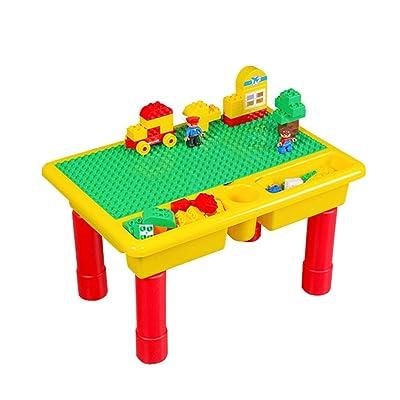 Mesa de bloques de construcción Bloques de construcción for niños multifuncionales Niños y niñas Juguetes for niños Bloques de construcción Mesas de juguete Bloques de construcción para niños: Hogar