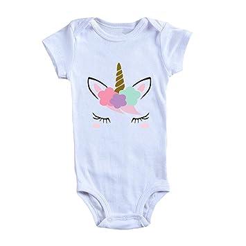 Kingmia bebé recién nacido niña cumpleaños unicornio estampado ...