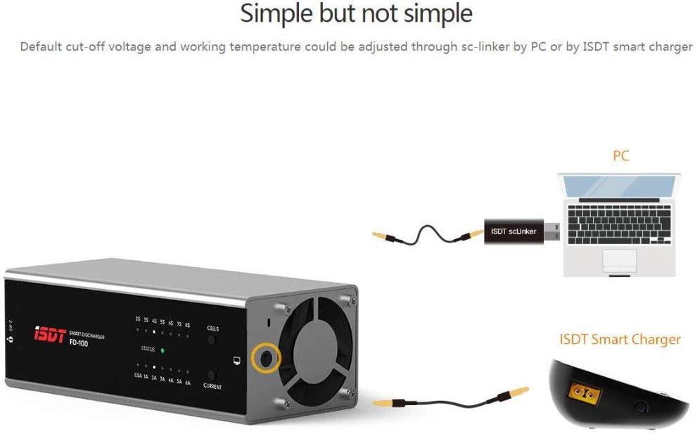 D/é chargeur de contr/ô le Intelligent de Dissipation de Chaleur Efficace ISDT FD-100 80W 6A pour la Batterie 2S-8S Lipo Lanlan