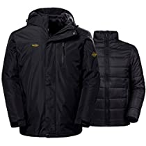Wantdo Mens Winter Ski Jacket Water Resistant Windproof 3-in-1 Jacket Puff Liner