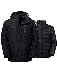 Wantdo Men's Winter Ski Jacket Water Resistant Windproof 3-in-1 Jacket Puff Liner