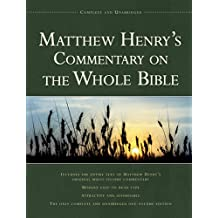 Matthew Henry's Commentary On Thewhole Bible