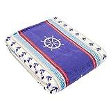 Cozy Fleece Plush Throw Blanket, 50x60, Nautical