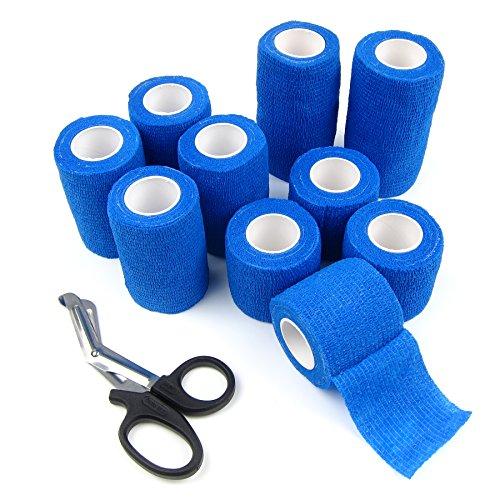 Alfie-Pet-by-Petoga-Couture-Magee-Self-Adherent-Cohesive-10-Piece-Wrap-Bandages-with-Scissor-Set-Color-Blue