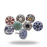colored kitchen cabinets Set of 8 Dessert Flower Ceramic Knobs by Trinca-Ferro