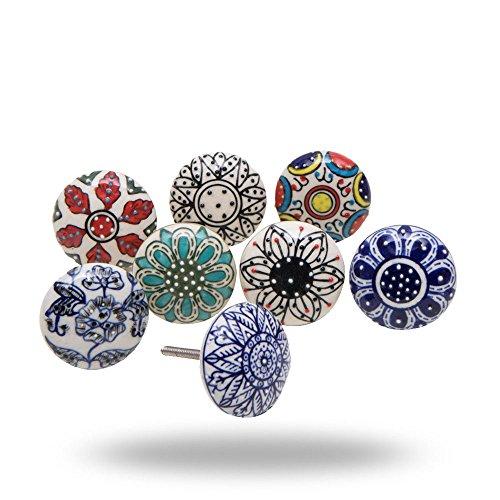 Set of 8 Dessert Flower Ceramic Knobs by Trinca-Ferro
