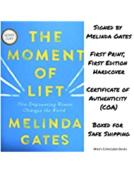 The Moment of Lift AUTOGRAPHED by Melinda Gates (SIGNED BOOK) COA 5923