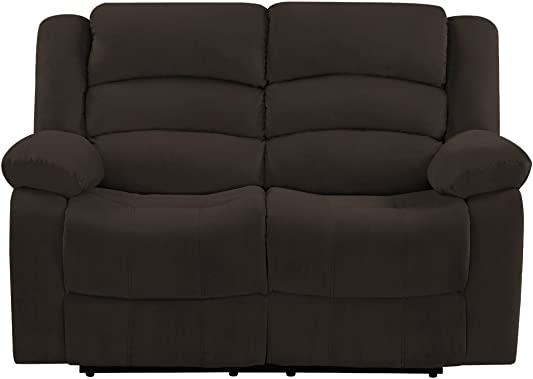 Blackjack Furniture 9824 Winthrop Collection Microfiber Modern Reclining Living Room Sofa