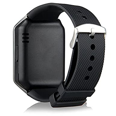 Amazon.com: 321OU Bluetooth Smart Watch Phone DZ09 with Camera Pedometer Support SIM Card TF Card for iPhone IOS Samsung LG Android Smartphones (Black): ...