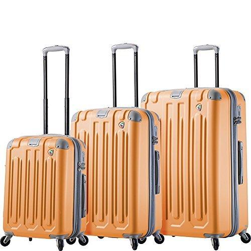 Mia Toro Italy Gelato Hardside Spinner Luggage 3 Piece Set-Melone