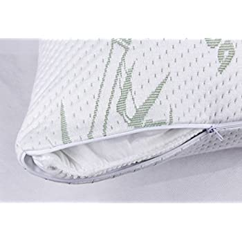 Golden Linens Zippered Bamboo Pillow Cover/Protector/Pillow Case -Stay Cool - Hotel Quality Hypoallergenic Fabric (Body 20