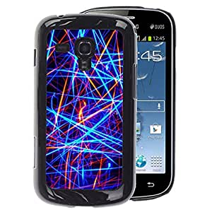 A-type Arte & diseño plástico duro Fundas Cover Cubre Hard Case Cover para Samsung Galaxy S Duos S7562 (Bright Neon Colors Red Black)