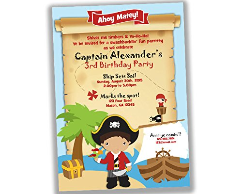 amazon com pirate birthday invitations boy treasure map invite any