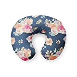 Nursing Pillow Cover in Navy Floral - by Twig + Bird - handmade in the USA