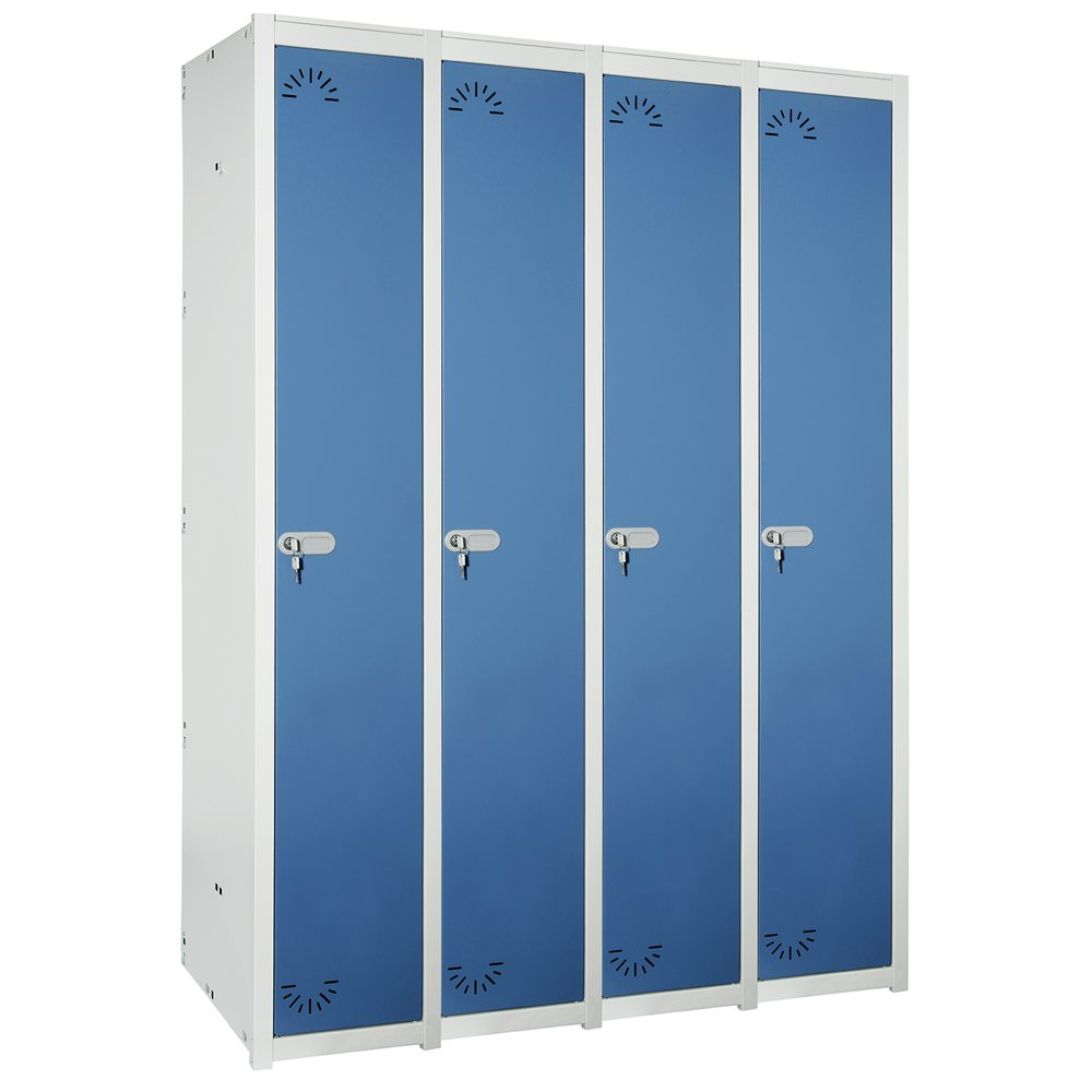 Vestiaire Métallique industrie propre. 1 Porte. 1 Module. 4 Eléments. Dim : H 1800 mm x L 1230 mm x P 520 mm. Démonté.