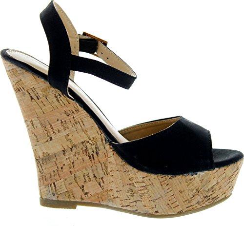Fashion Focus Womens Ardo-3 Wedge Sandals