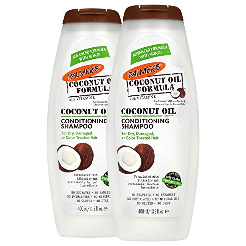 Palmers Coconut Oil Formula Conditioning Shampoo for Dry, Damaged or Color Treated Hair, 13.5 fl. oz. (Pack of 2)