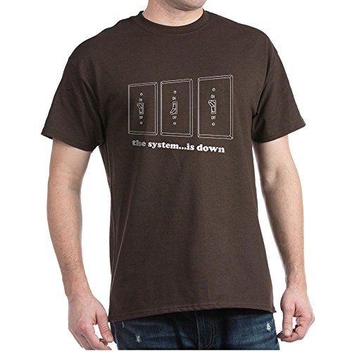 CafePress The System.is Down Black T-Shirt 100% Cotton T-Shirt