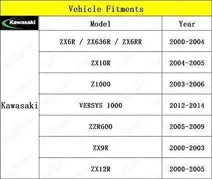 3D leve frizione e freno set per ZX6R 2000-2004//ZX10R 2004-2005//Z1000 2003-2006//VERSYS 1000 2012-2014//ZZR600 2005-2009//ZX9R 2000-2003//ZX12R 2000-2005 leva frizione freno Verde
