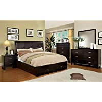 247SHOPATHOME Idf-7066EX-CK-6PC Bedroom-Furniture-Sets, California King, Espresso