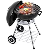 Portable Charcoal Grill for Outdoor Grilling 18 inch Barbecue Grill and Smoker Heat Control Round BBQ Kettle Outdoor Picnic Patio...