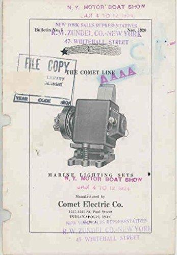 Comet Lighting (1924 Comet Marine Boat Lighting Generator Set Brochure)