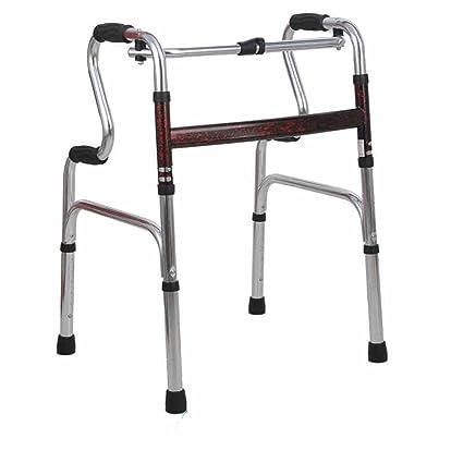 ZZHF Rehabilitación de muletas Ayudante para Caminar a los Ancianos Aluminio Engrosado Aparatos de Cuatro pies