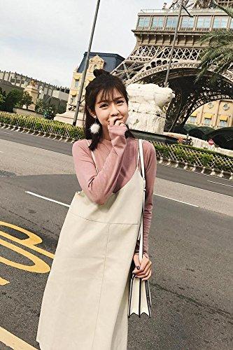 Amazon.com: Retro PU falda de piel viento falda traje camisa ...