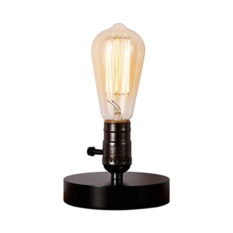 Charmant INJUICY Vintage Table Lamps, Wooden Base Desk Light For Bedside, Bedroom  Living, Dining