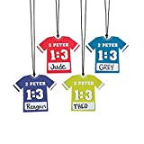 Sports Vbs Jersey Name Tag Necklace Craft Kit - 12 Pieces
