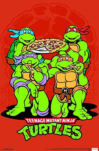 Trends International Wall Poster Teenage Mutant Ninja Turtles-Pizza, 22.375