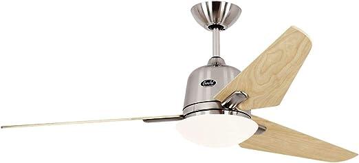 Ventilador de techo con luz CasaFan 513250 ECO AVIATOS 132 Arce ...