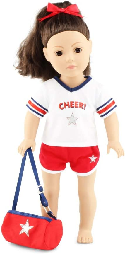 """Emily Rose 18 Inch Doll Cheer Practice Set