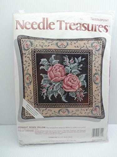 (Needle Treasures Midnight Roses Needlepoint Kit)