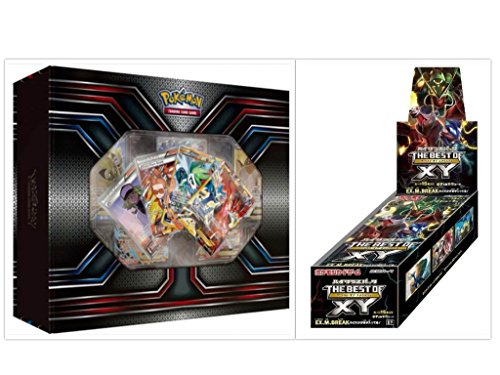 Pokemon TCG XY Premium Trainer Collection Box and Japanese The Best of XY Booster Box Card Game Bundle, 1 of Each ()
