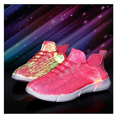 callm New Summer Led Fiber Optic Shoes for Girls Boys Men Women USB Charging Glowing Sneakers Man Light Up Shoes