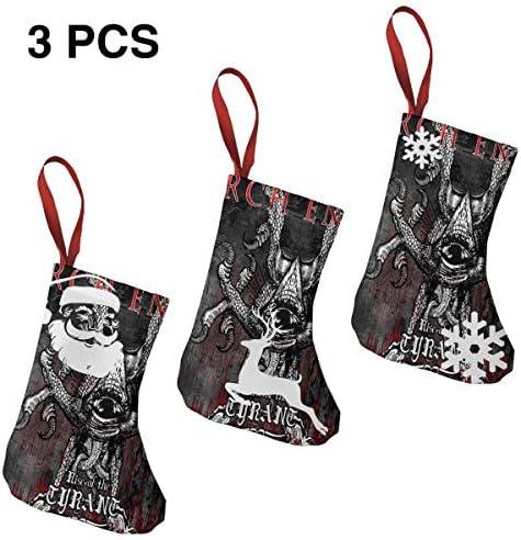 クリスマスの日の靴下 (ソックス3個)クリスマスデコレーションソックス ロックミュージックArch Enemy クリスマス、ハロウィン 家庭用、ショッピングモール用、お祝いの雰囲気を加える 人気を高める、販売、プロモーション...