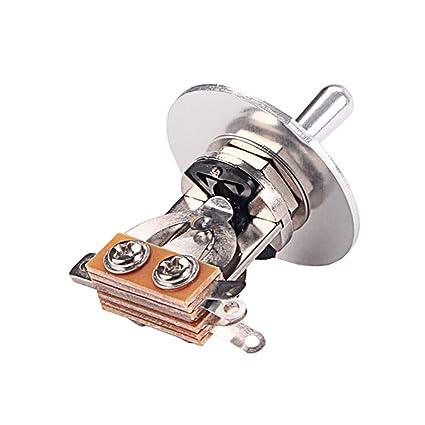 Interruptor De Palanca De 3 Vías Para Guitarra Eléctrica Con Conjunto De Anillos De Arandela De