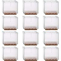 Mopoin Stoelpootdoppen van silicone, 12 stuks, 30-35 mm, voorkomt krassen en geluiden, zonder sporen achter te laten…