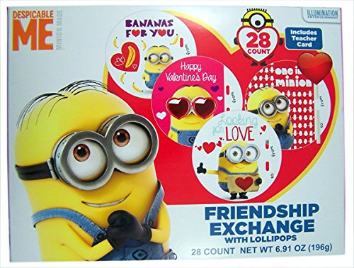 Amazon.com : Deable Me Minions Valentine's Day Cards with ...