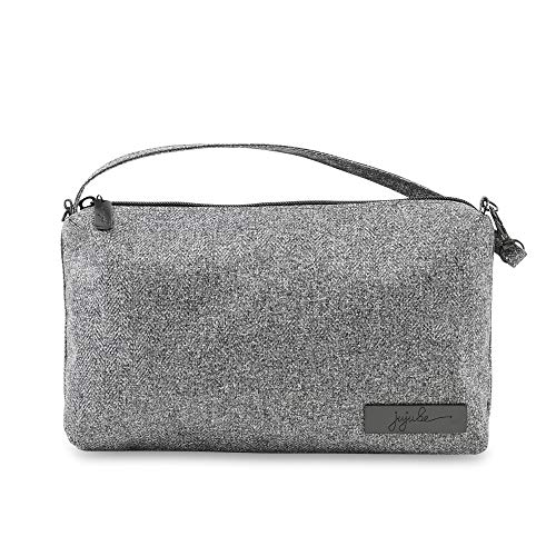 JuJuBe Be Quick Baby Wipe Carrying Case/Detachable Wristlet Oynx Collection, Gray Matter, One - Diaper Carry Wristlet