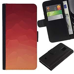 NEECELL GIFT forCITY // Billetera de cuero Caso Cubierta de protección Carcasa / Leather Wallet Case for Samsung Galaxy S5 Mini, SM-G800 // Modelo rosado abstracto
