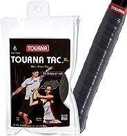Tourna Pacote com 10 Tac Overgrip (preto, GG)