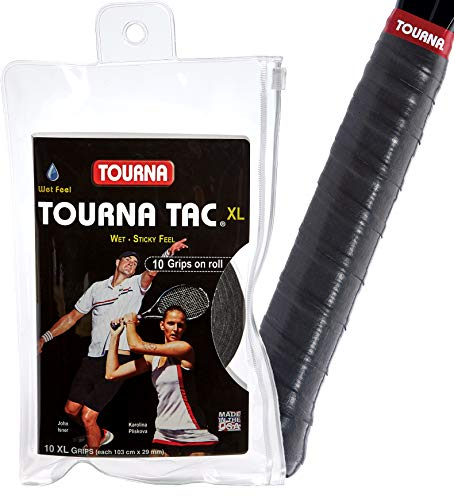 Tourna Tac Overgrip Pack of 10 (Black, X-Large)