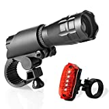 Bike Light Set - Super Bright LED Lights for Your Bicycle - Easy to Mount Headlight and Taillight with Quick Release System - Best Front and Rear Lighting - Fits All Bikes