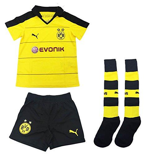 充電を除く松Puma BVB Borussia Dortmund Home Mini Kit (With Socks) 2015-16/サッカー ミニ?ユニフォームセット ボルシアドルトムント ホーム用 背番号なし