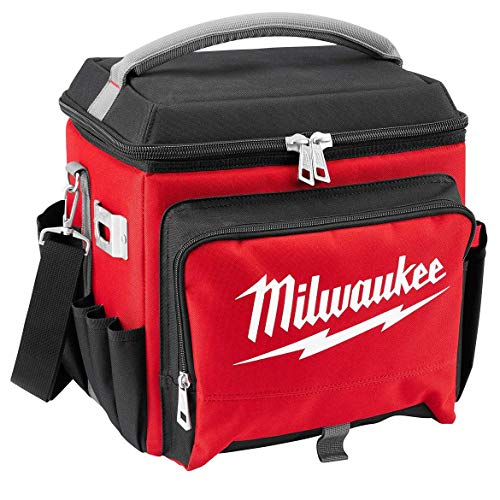"""Milwaukee Electric Tool 48-22-8250 Sided Jobsite Cooler, Polyester, 11.1"""" x 13.77"""" 14.96"""" H, 3, 5 Pockets"""
