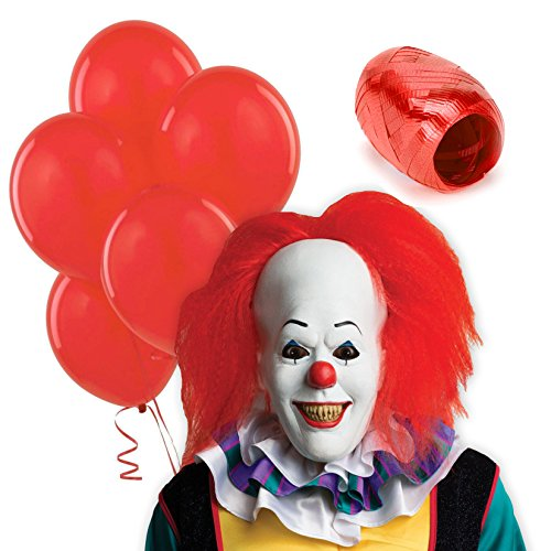 Stephen King It Costume (IT Movie Pennywise Clown Costume Accessory Kit)