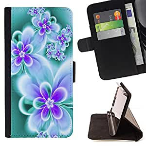 DEVIL CASE - FOR LG Nexus 5 D820 D821 - Floral Butterfly Teal Vibrant Neon Colors - Style PU Leather Case Wallet Flip Stand Flap Closure Cover
