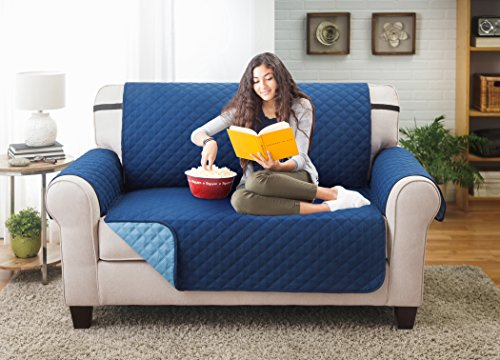 Deluxe Reversible LoveSeat Furniture Protector, Blue / Light Blue (Patio Furniture Protector Covers)
